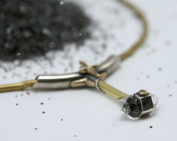 Herkimer Diamond Hammer pendant
