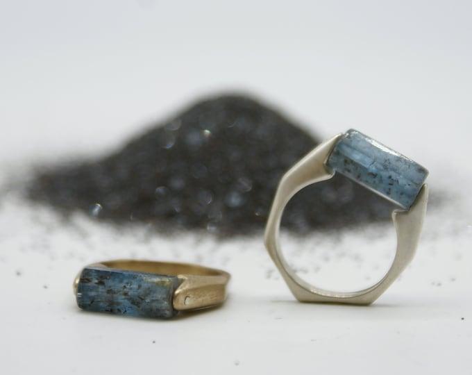 Kyanite Barrel Rings