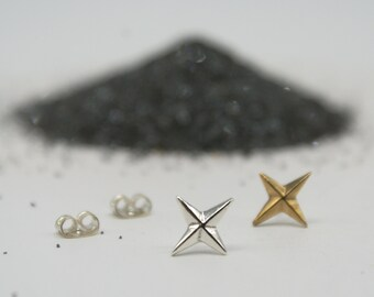 Compass Rose studs - bronze or silver