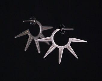 Spur Mini-Hoop earrings - bronze or silver