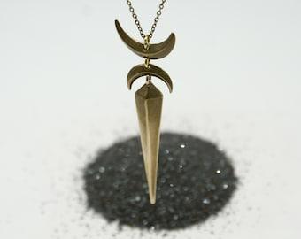 Crescent Pendulum necklace