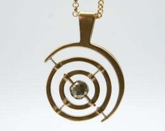 Gyroscope pendant  -   pyrite