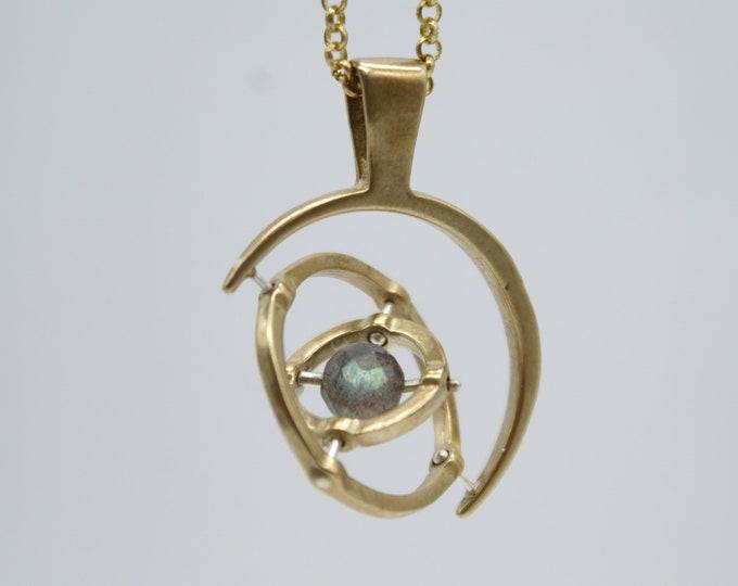 Gyroscope pendant  -   labradorite