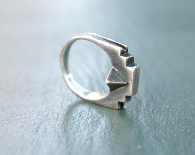 Lost Wax Ring No. 4- Pyramid