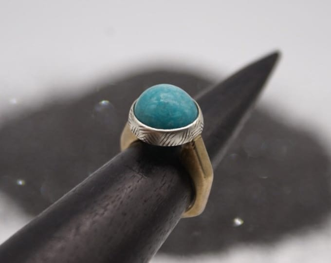 Amazonite Half-Sphere Ring