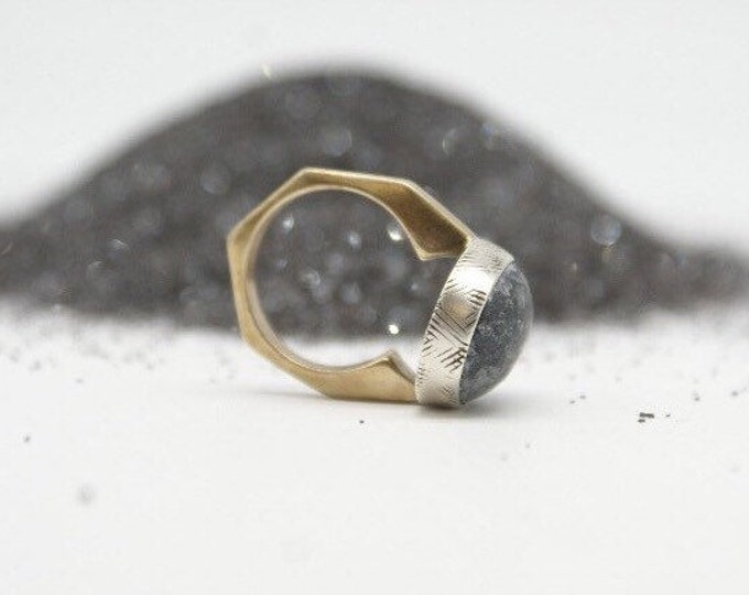 Dark Pyrite ring
