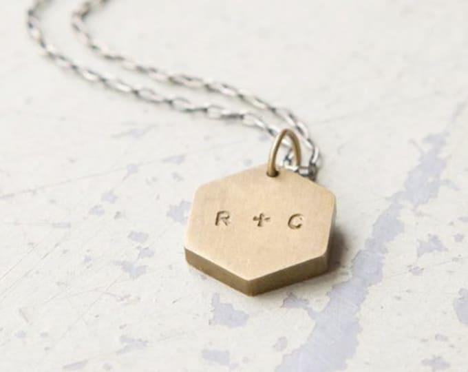 Custom Initials necklace - valentine's day, anniversary, wedding, best friends, going away