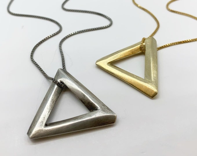 Penrose Triangle necklace