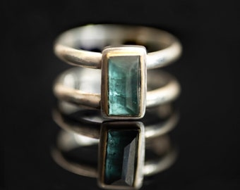 Tourmaline ring with 18k gold, size 7