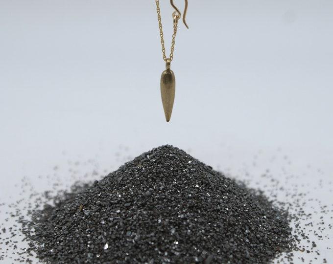 Dagger charm necklace