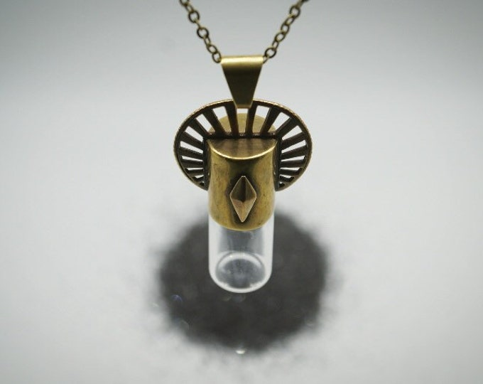 Sun Halo rollerball vial necklace
