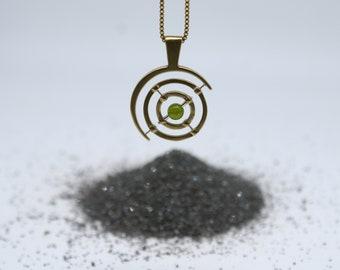 Bronze Gyroscope 5.0 - green Peridot