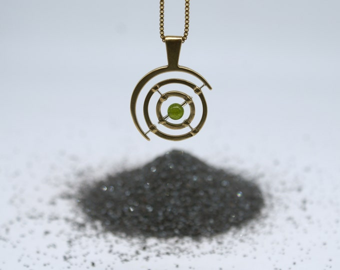 Bronze Gyroscope 5.0 - green Peridot