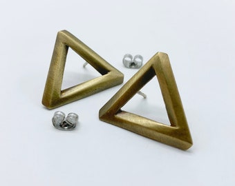 Penrose Triangle studs
