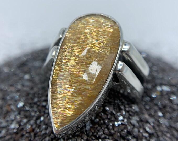 Sunstoned ring - size 8, OOAK
