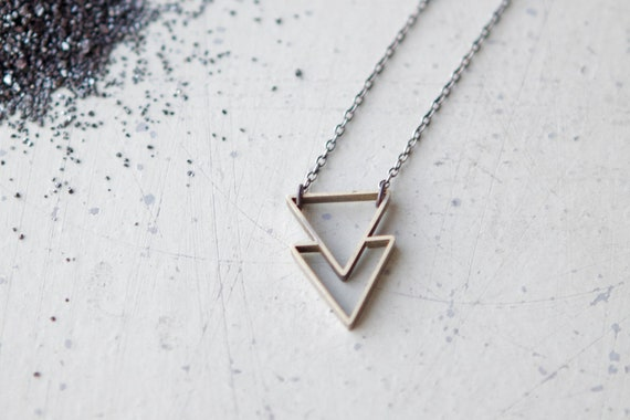 the Double Triangle necklace