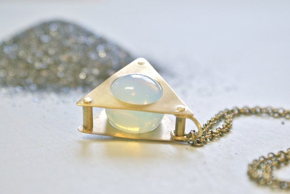 the Riveted Opalite necklace