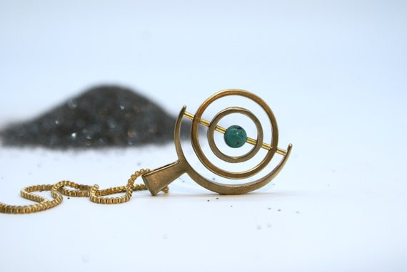 SALE - Gyroscope with Turquoise