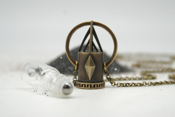 Pharoh - a one-of-a-kind rollerball necklace