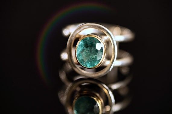 Tourmaline ring with 18k gold, size 6