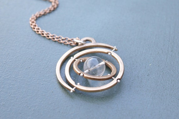 Gyroscope pendant necklace - 4.0 bronze