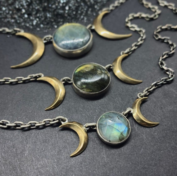 Goddess Symbol Necklace - Labradorite