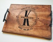 Personalized Serving Tray, Serving Tray, Personalized Wedding Gift, Breakfast in Bed Tray, Anniversary Tray, Personalized Wood Tray