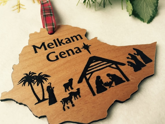 Melkam Gena Ethiopian Christmas Ornament Ethiopian Nativity | Etsy