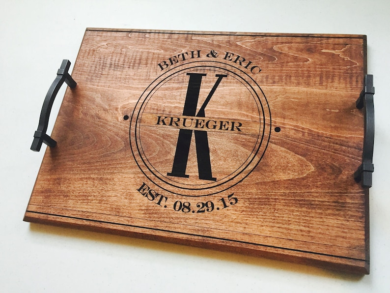 Personalized Serving Tray Serving Tray Personalized Wedding image 1
