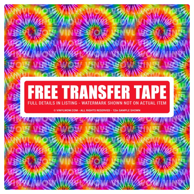 Vinyl Craft Sheets - Tie Dye (D) Hippie Rainbow - Printed Pattern - Heat  Transfer (HTV)