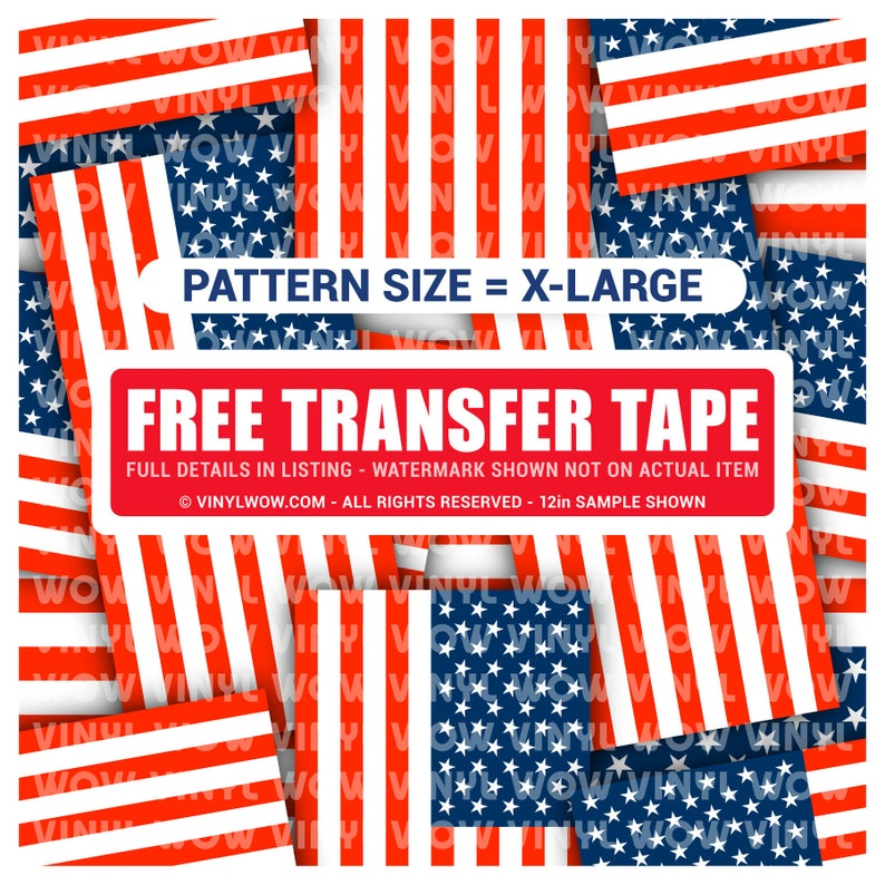 6329f24c099 Vinyl Craft Sheets Flags Stacked USA America Extra Large