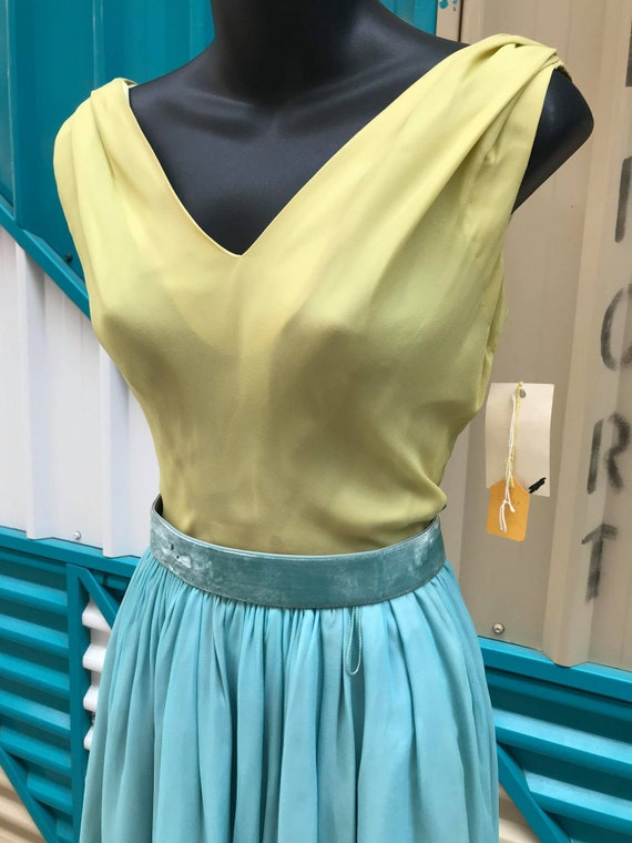 1960s 'Minx Modes' Deadstock Chiffon Two-Toned Co… - image 2