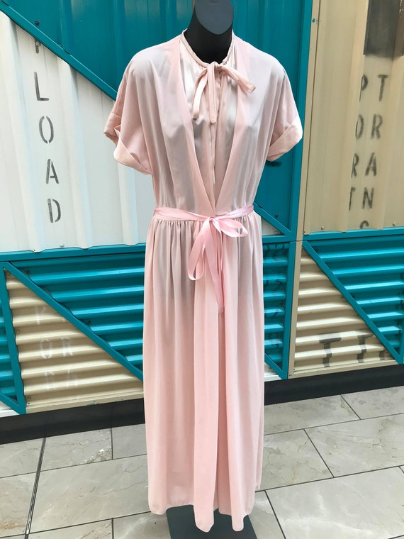 """1950s """"Styled by Saybury"""" Baby Pink House Dress"""