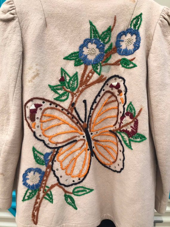 1940s Embroidered Wool Jacket - image 7