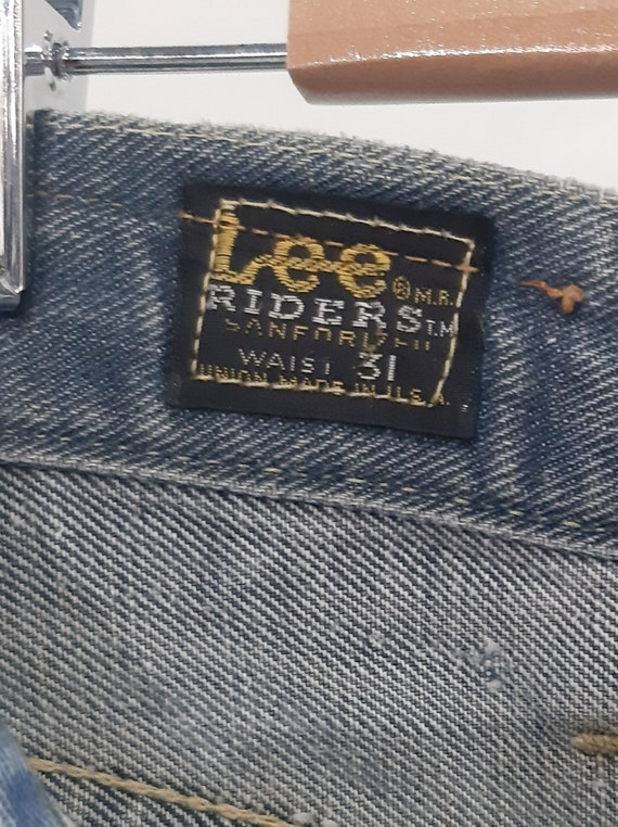 Rare 1940s Lee Riders Sanforized Denim Straight Le