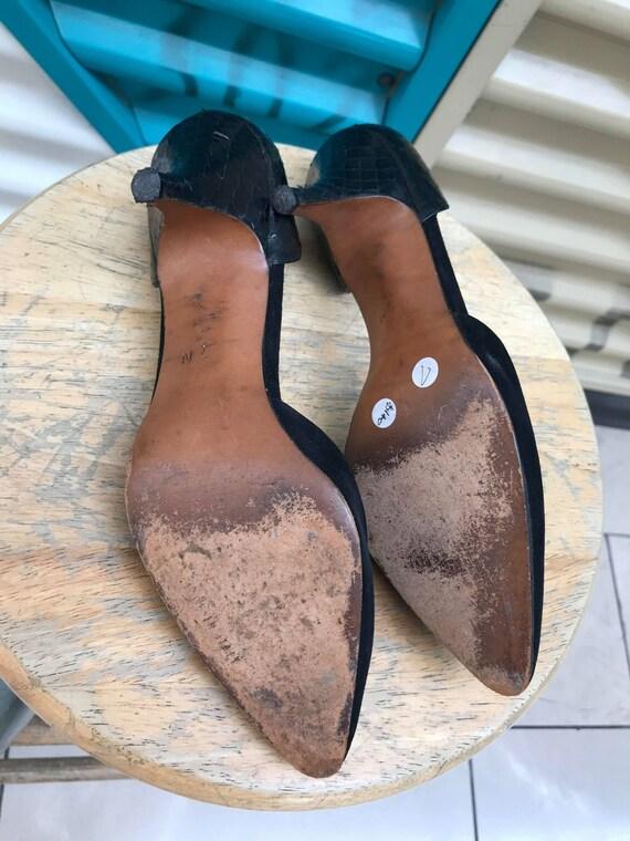 """Vintage """"Halston"""" Black Heels Size US 7N - image 8"""