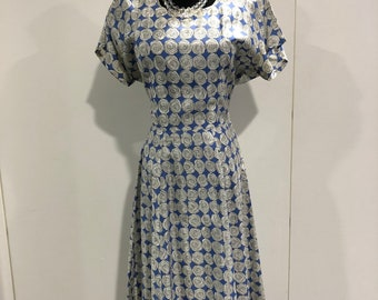 1950s rose print 'Anne Kauffman' day dress