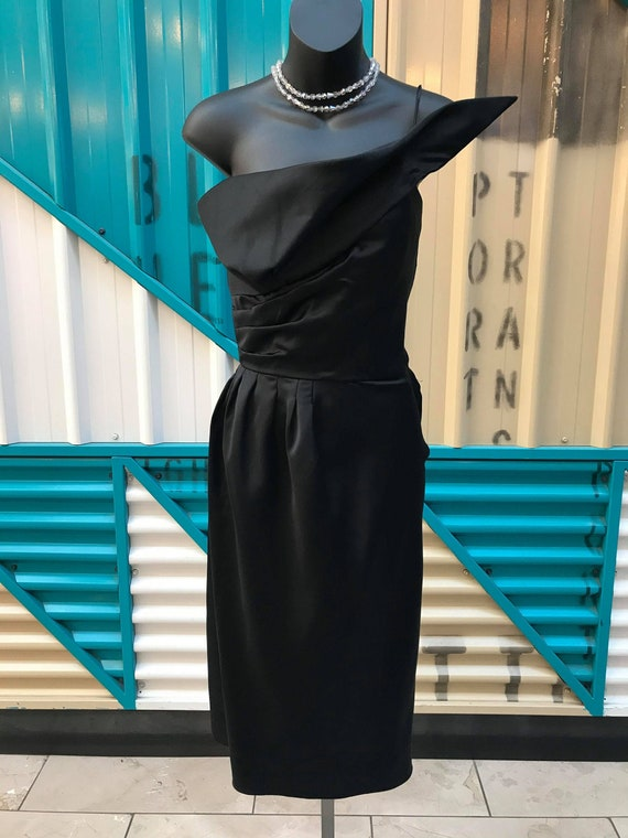 Designer Victor Costa Black Cocktail Dress