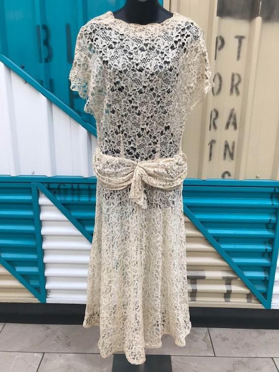 OOAK 20s 30s Lace Dress