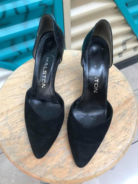 """Vintage """"Halston"""" Black Heels Size US 7N - image 3"""