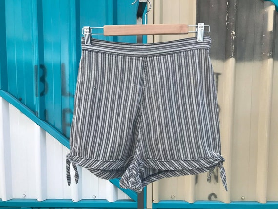 RARE 1940s Striped Cotton Shorts