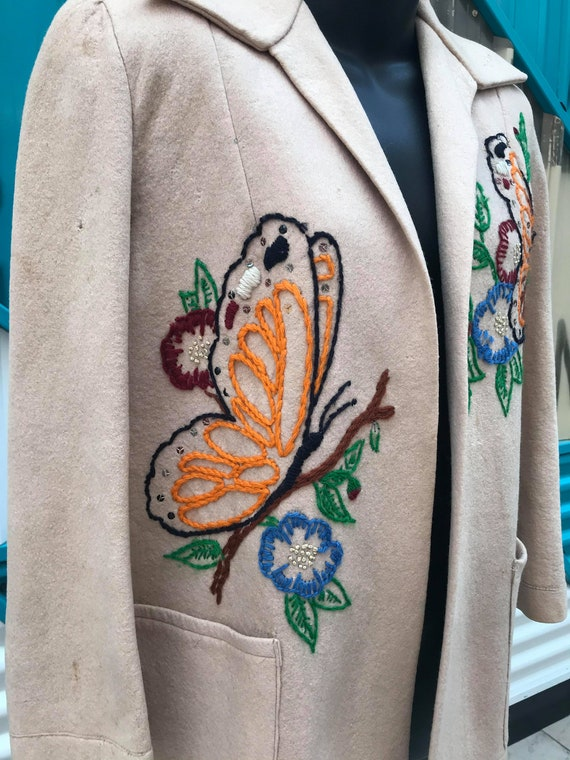 1940s Embroidered Wool Jacket - image 3
