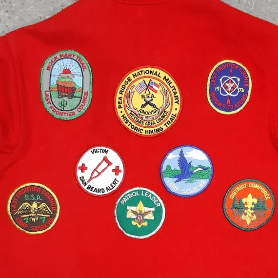 Vintage Boy Scouts of America Red Wool Shirt Jacke