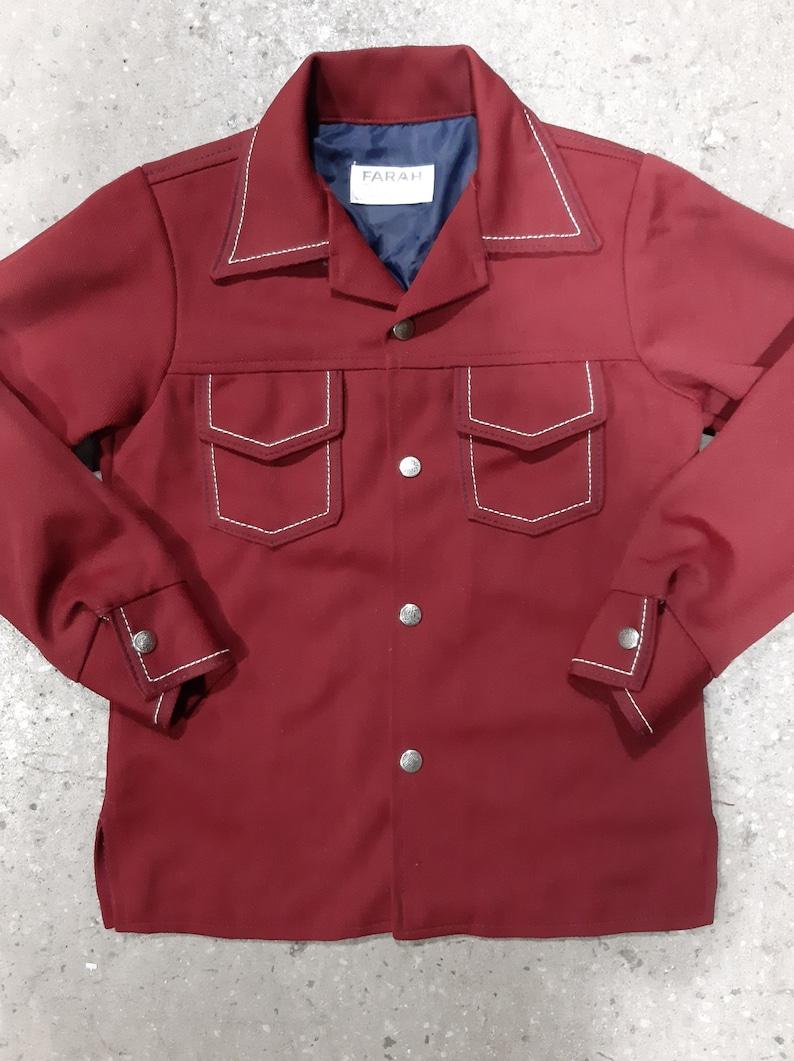 Vintage Boys 70s /'Farah/' Polyester Shirt Jacket
