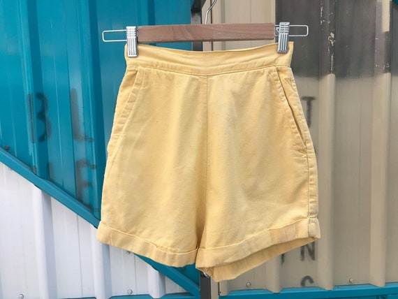 "RARE 1950s ""Levi's Denim Family"" Yellow Shorts"