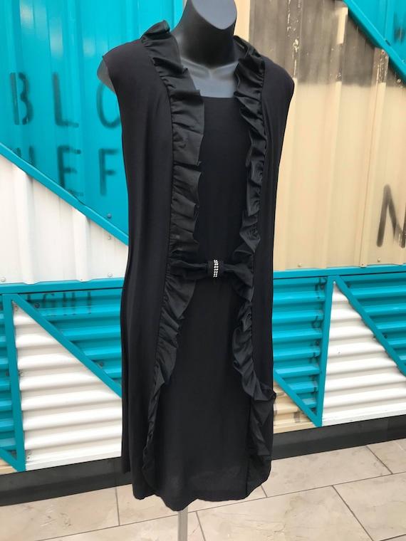 1960s Black Shift Dress