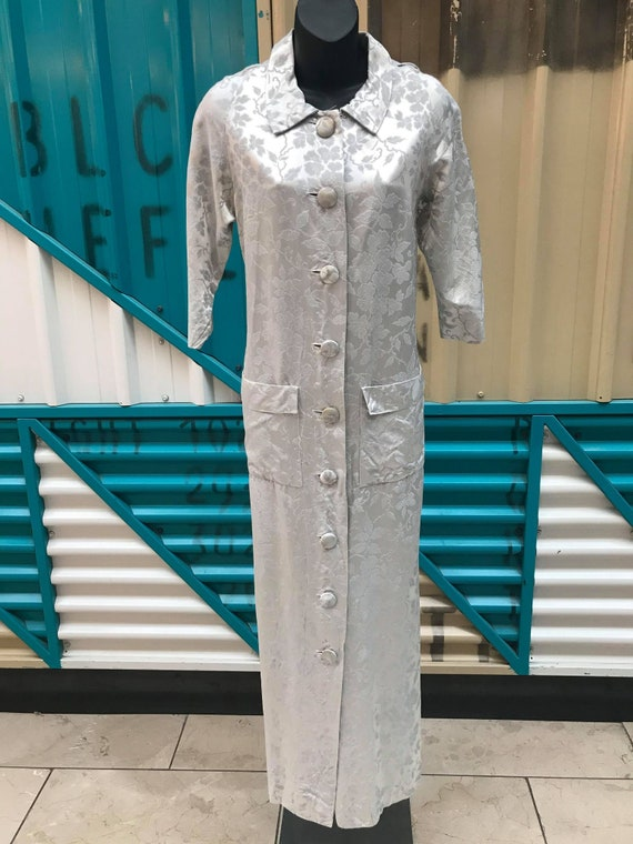 1960s Silver Damask House Coat