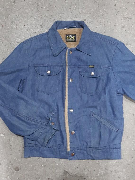 Rare 1960s Maverick Blue Bell Sherpa Denim Jacket