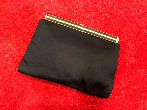 Authentic Gucci 1970s Black Clutch - image 2