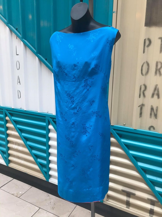 Vintage 60/'s Silk Shift Dress